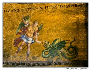St-Michael-Slaying-the-Dragon-San-Marco-in-Venice
