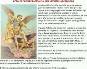 consacrazione a SAN MICHELE